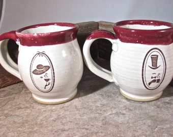 His and Hers mug set - by Blaine Atwood items # 840-841