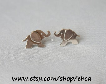 Sterling Silver Baby Elephants Earrings