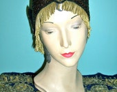 Hold For GriffinGoddess Green Iris Beaded Scarab Headband Headpiece Millinery Party Event Editorial