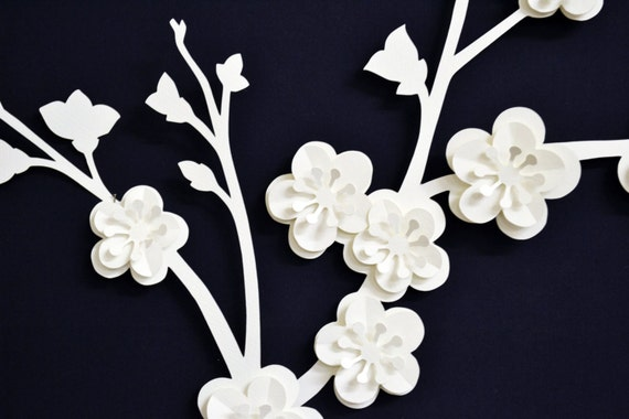 Beautiful 3D paper Blossom branch for wedding decoration custom