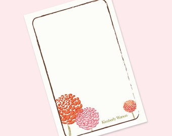 Dahlias Personalized Notepad