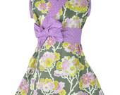 Sleeveless Kimono Dress - HEATHER GARDEN - girls custom boutique dress sizes 0 through 10 years