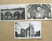 French Postcards - Three Vintage Black and White Photo Postcards - Postcard From France