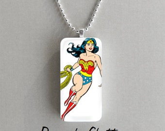Wonder Woman Domino Necklace - Chain Included