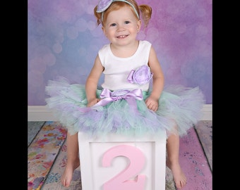 Baby Girls Birthday Tutu Dress Outfit, Christmas Toys, Mint Lavender Tutu Dress for Baby Girl 2nd Birthday Outfits and Ideas