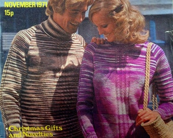 1971 STITCHCRAFT KNITTING PATTERNS Magazine