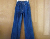Vintage 1970's High Waisted Levis, Wide Leg, Size 25x30