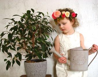 Pink rose flower crown, wedding hair accessory, festival headband, summer fashion