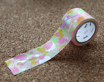 Colorful Paint, Japanese Washi Paper Masking Tape, mt fab, Screen Print, Scrapbooking, Journal Washi, Card Decoration, Adhesive Planner Deco