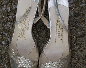 Vintage Silver and Rhinestone Heels by Stanley Philipson 5
