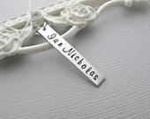 Silver Bar Necklace, Silver Name Necklace, Silver Name Plate Necklace, Engravable Necklace