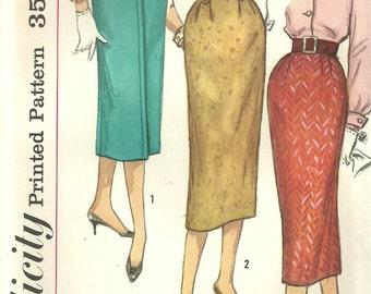 Simplicity 2196 / Vintage 50s Sewing Pattern / One Yard Skirt / Waist 24