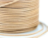 15%OFF Natural Greek Leather Cord, Untreated round 1.5mm, genuine leather By the Yard, DIY Mykonos Nautical Craft Jewelry Supplies