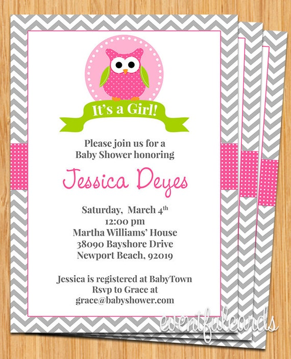 Owl Baby Shower Invitation by EventfulCards  Catch My Party