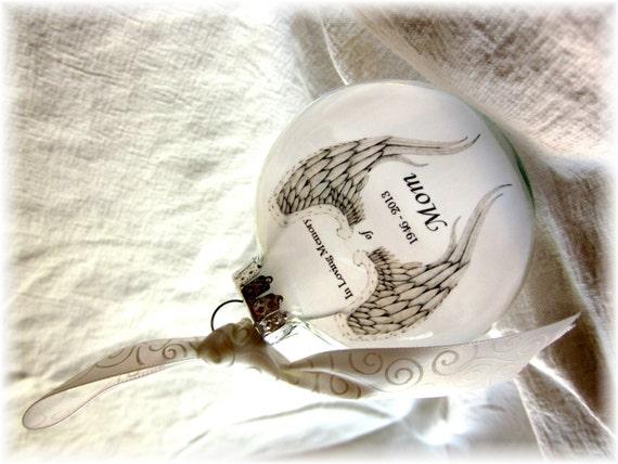 Memorial Angel Ornament White