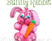 Polymer Clay Bunny Rabbit Figurine Tutorial - Also for Fondant, Sugar Paste, & Other Sculpting Mediums