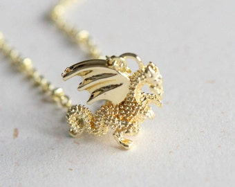Golden Dragon Necklace (N363) in yellow golden color