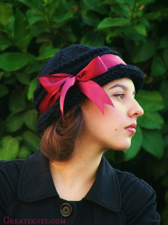 Knitting PATTERN-Adult Cloche Hat