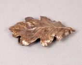 Oak Leaf Belt Buckle - Oak Leaf Buckle - Leaf Buckle - Brass