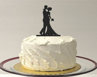 MADE In USA, Silhouette Cake Topper Bride and Groom Silhouette Wedding Cake Topper Bride and Groom Cake Topper