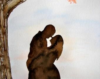 Bespoke Watercolour Silhouette