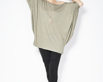 Oversized Womens Blouse / The Butterfly / Top Tunic - MB007