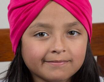 hot pink turban headband