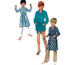 70s Toddlers Robe Pattern Style 3262 Vintage Sewing Pattern Dressing Gown for Boys Or Girls Size 2 Breast 21 inches
