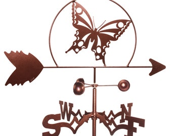 Hand Made Butterfly Weathervane NEW