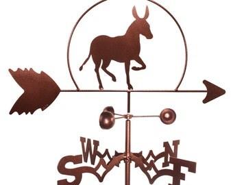 Hand Made Donkey Mule Durro Weathervane NEW
