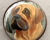 English Mastiff Keychain ~ Birthday Gift ~ Gifts Under 10 ~ Pet Keepsake ~ February Birthday ~ Pet Accessories