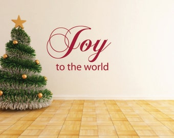 Joy to the world Vinyl Wall Decals - Christmas Vinyl Decals - Winter- Holiday Decals
