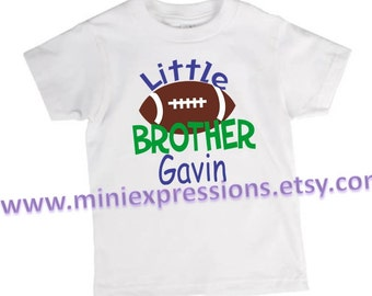 Personalized Little Brother Football Shirt