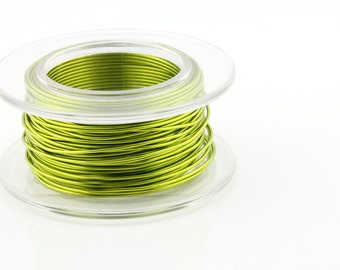 25% OFF!! WIRE - 26g (AWG) Peridot Enameled Copper Wire - 15 yard spool.