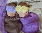 Pick Color-  Newborn Baby Girl Flower Headbands, Newborn Flower headband, Toddler Shabby Flower Headband, Newborn Pink Headband