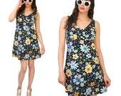 SALE: 60s Flower Child Mini Dress // Size S