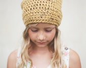 Yellow Slouchy Beanie Hat, Hipster Clothing, Hats for Girls, Boys Hats, Slouchy Hat, READY TO SHIP, 5T to Preteen (Morgan)
