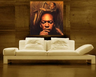 John Coltrane Painting Jazz Art CANVAS print