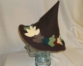Brown Wool Hedge Witch Hat