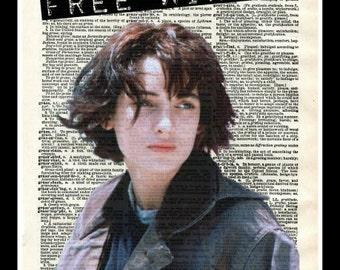 90s Winona Ryder FREE WINONA Dictionary Art Print