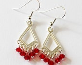 Red crystal silver chande...