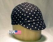 Cycling Cap // Black And White Polka Dot