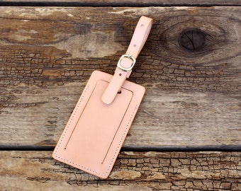 Luggage Tag, Leather Luggage Tag, Travel Tag, Durable Baggage Tag w/ Privacy Flap