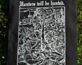 Hunters will be Hunted ~ backpatch and free patch (30 different designs available)