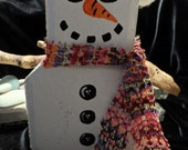 Snowman Brick Door Stopper Holiday Christmas Decoration
