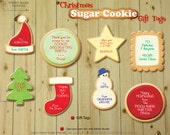 Christmas SUGAR COOKIE Gift Tags - DIY Printable Favor Tags // Baking Party // Christmas Present Tags // Cookie Exchange - Instant Download