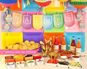 FIESTA Collection : DIY Printable Cinco de Mayo Decor | Mexican Themed Party Decoration | Birthday Party Decoration  - Instant Download