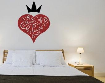 Vinyl Wall Decal Sticker Queen of Hearts OSMB1191m