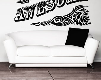 Vinyl Wall Decal Sticker Awesome 5164m