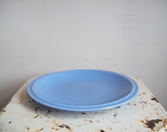 Vernon Kilns blue china plate Vernon Kilns Ultra California aster blue 1940's excellent condition